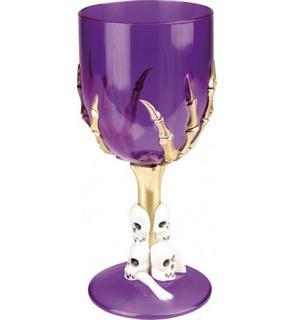 Verre violet à l'unité Halloween