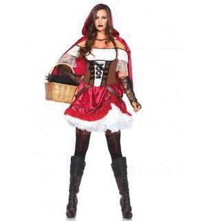 Déguisement chaperon rouge rebelle femme