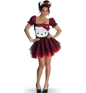 Déguisement Hello Kitty? rouge adulte
