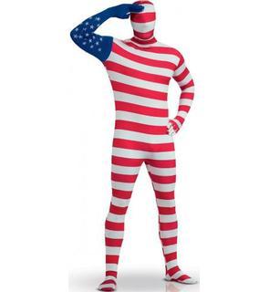 Déguisement Seconde peau drapeau US adulte