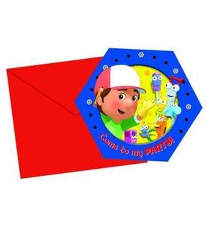 6 Cartes d'invitation Manny et ses outils?
