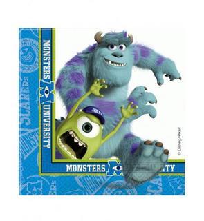 20 Serviettes en papier Monsters University? 33 x 33 cm