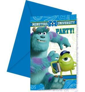 6 Cartes d'invitation Monstres Academy?
