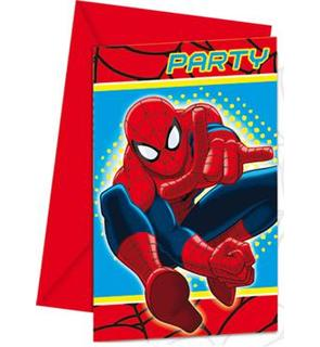 6 Cartes d'invitations Spiderman?