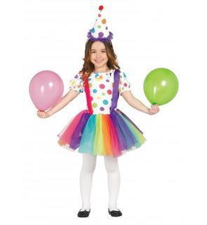 Déguisement clown à pois et tutu fille