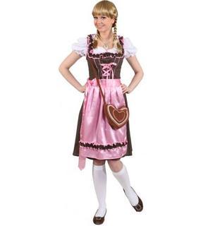 Déguisement traditionnel Bavaroise rose femme