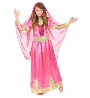 Déguisement princesse bollywood rose fille