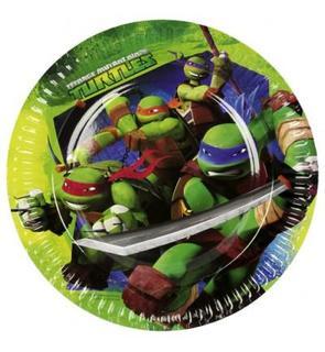 Amscan Assiettes en carton Tortues Ninja : 8 assiettes de fête