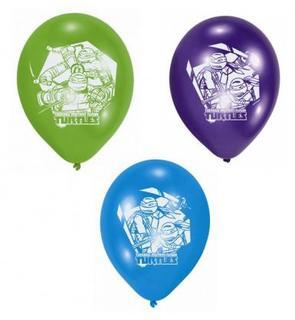 Lot de 6 Ballons de baudruche en latex Tortues Ninja?