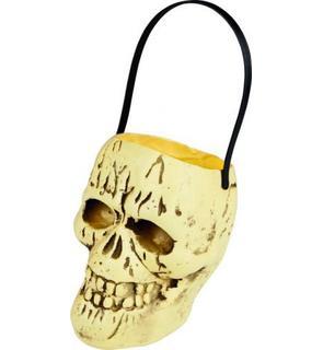 Seau bonbons tête de mort Halloween