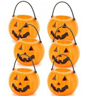 Lot 6 seaux citrouilles Halloween