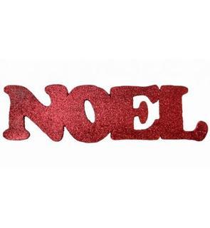 Décoration rouge Lettres Noël