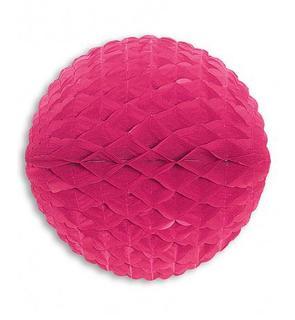 Boule en papier rose