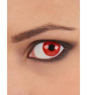 Lentilles de contact oeil rouge adulte