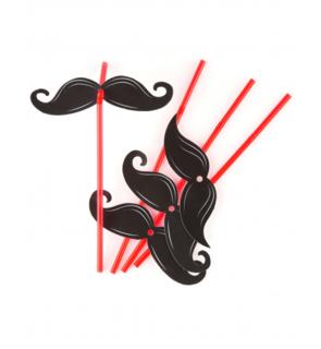 6 Pailles Moustaches