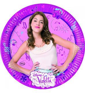8 Assiettes carton - Violetta - 23cm