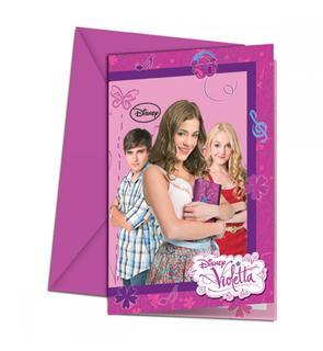 6 Cartes d'invitation - Violetta