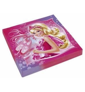 20 Serviettes en papier Barbie? 33 x 33 cm
