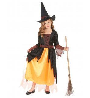 Déguisement sorcière orange fille