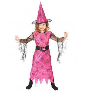 Déguisement sorcière araignée rose fille