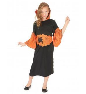 Déguisement reine araignée orange fille