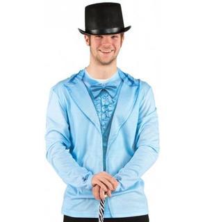 T-Shirt costume bleu adulte