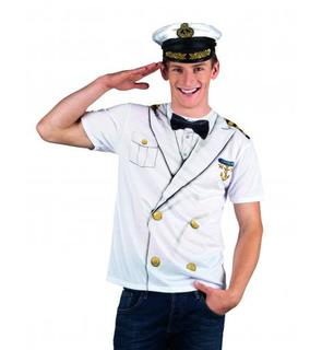 T-Shirt capitaine marin adulte
