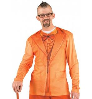 T-Shirt costume orange adulte