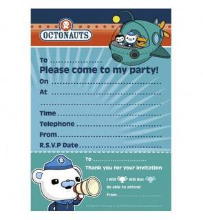 20 Invitations + enveloppes Octonaut?
