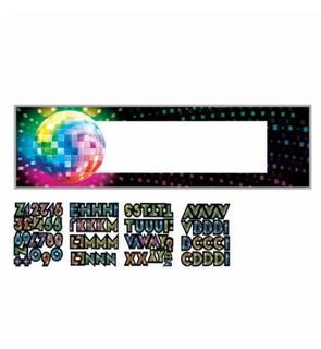 Bannière personnalisable Boules à facettes Disco