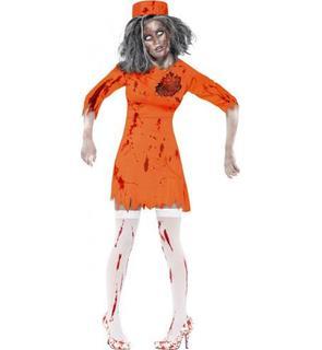 Déguisement zombie prisonnière femme Halloween