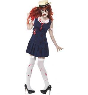 Déguisement zombie écolière femme Halloween
