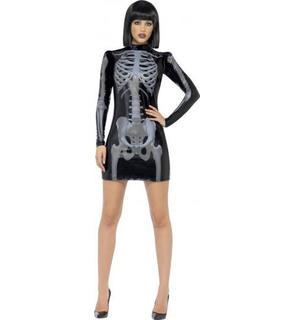 Déguisement squelette noire sexy femme Halloween