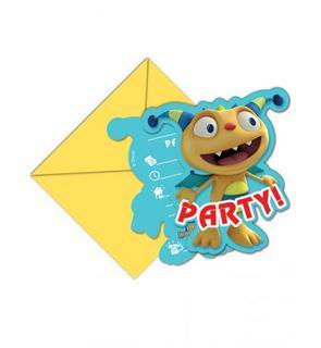 6 Cartes d'invitation avec enveloppes Henry Câlimonstre?