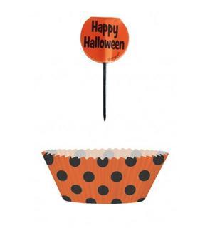 Moules à cupcakes et pics de décoration Halloween