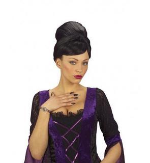 Faux ongles sorcière noirs adulte Halloween