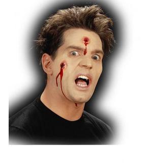 Fausse plaie impacts de balles Halloween