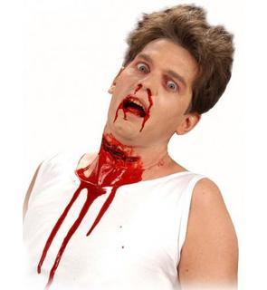 Fausse plaie gorge tranchée adulte Halloween