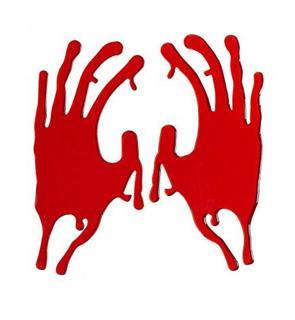 Traces de mains ensanglantées Halloween