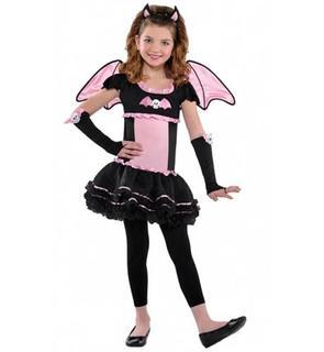 Déguisement chauve-souris rose fille Halloween