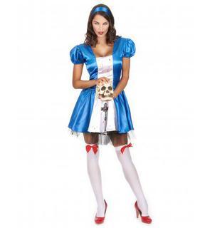Déguisement princesse des merveilles ensanglantée femme Halloween