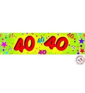 Banderole papier 40 ans 0,16x2,44m