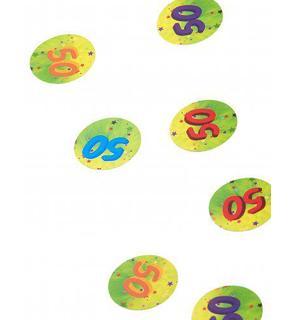 150 confettis de table 50 ans