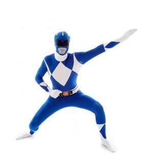 Déguisement Morphsuits? Power Rangers? bleu adulte