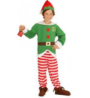 Déguisement elfe rayé enfant Noël