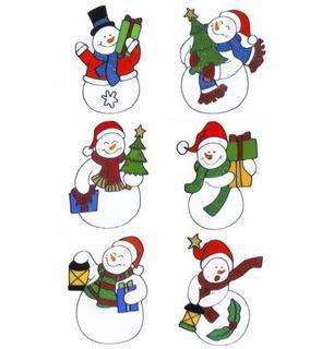 Décoration pour fenêtres bonhomme de neige Noël