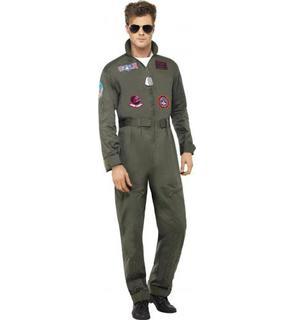 Déguisement pilote de ligne luxe Top Gun? adulte