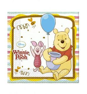 20 Serviettes en papier Winnie l'ourson? 33 x 33 cm