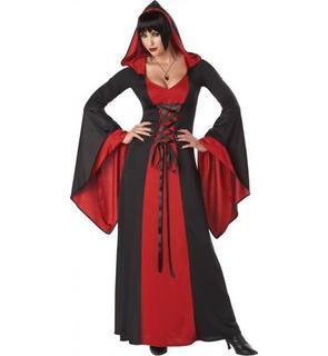 Déguisement robe maléfique à capuche femme