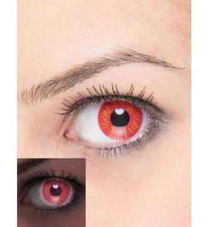 Lentilles de contact fantaisie UV feu adulte